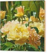 Office Art Rose Garden Giclee Prints Roses Baslee Troutman Wood Print
