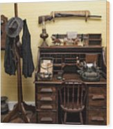 Office Of Jail Wood Print