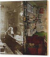 Office - Ole Tobias Olsen 1900 - Side By Side Wood Print