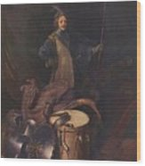 Officer Of The Marksman Society In Leiden Wood Print