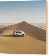 Offroading In The United Arab Emirates Wood Print