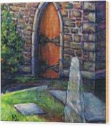 Ogham Stone Wood Print