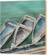 Ogunquit Maine Skiffs Wood Print