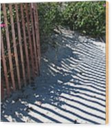 Ogunquit Shadows Wood Print