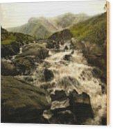 Ogwen Falls Wood Print