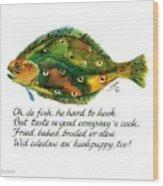 Oh De Fish Wood Print