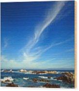 Oh The Beauty  Monterey Peninsula Ca  Wood Print