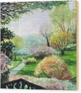 Ohio Garden Wood Print