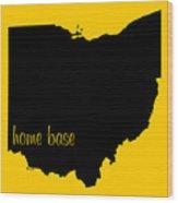 Ohio Is Home Base Black Wood Print