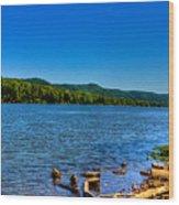 Ohio River Bank Wood Print