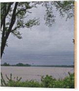 Ohio River Wood Print by Sandy Keeton