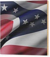 Ohio State Flag Wood Print