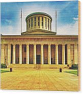 Ohio Statehouse Wood Print