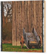Ohio Wheelbarrel In Autumn Wood Print