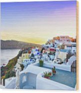 Oia, Santorini - Greece Wood Print
