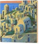 Oia. Santorini Wood Print