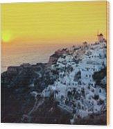 Oia Town , Santorini Island, Greece Wood Print