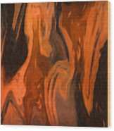 Oil Abstract Wood Print