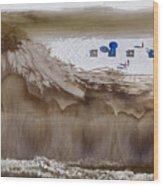 Oil-covered White Sands Of Orange Beach Wood Print