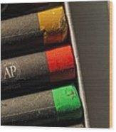 Oil Crayons Wood Print