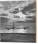 Oil Derrick - Point Loma From Coronado Beach San Diego C.1900 Wood Print