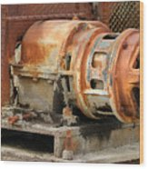 Oil Field Electric Motor Wood Print