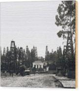 Oil Field Residential Los Angeles C. 1901 Wood Print