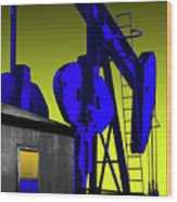 Oil Industry Well Pump Wood Print