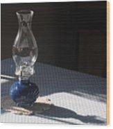 Oil Lamp Wood Print by Steven Scott
