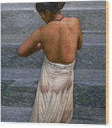 Oil Painting Art-bather On Linen Wood Print