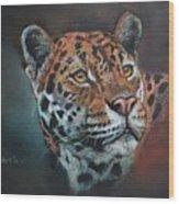 Oil Painting Jaguar Wood Print