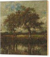 Oil Painting Landscape Wood Print