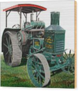 Oil Pull Tractor Wood Print