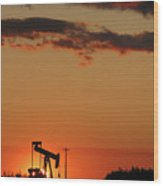 Oil Pump Jack 3 Wood Print