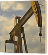 Oil Pumpjack II Wood Print