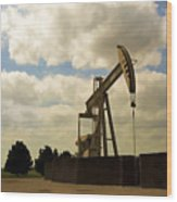 Oil Pumpjack Wood Print
