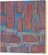 Oil Soaked Bricks Wood Print