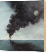 Oil Spill 3 Wood Print by Katherine DuBose Fuerst