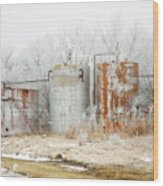 Oil Tank Farm Wood Print