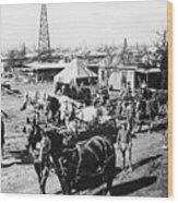 Oil: Texas, 1920 Wood Print