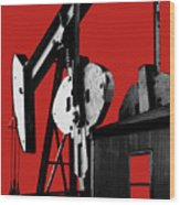Oil Well Pump #4 Wood Print