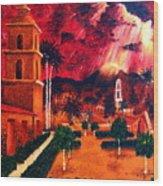 Ojai Red I Wood Print
