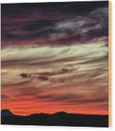 Ojo Caliente Sunset Wood Print