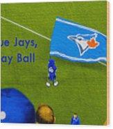 O.k. Blue Jays Let's Play Ball Wood Print