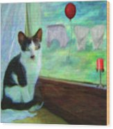 Ok I'll Pose - Painting - By Liane Wright Wood Print
