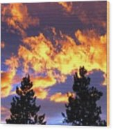 Okanagan Sunset Wood Print