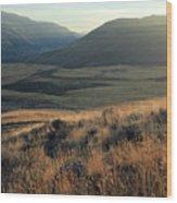 Okanagan Valley Warm Glow Wood Print