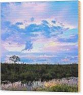 Okavango Sundowners Wood Print