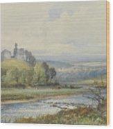 Okehampton Castle Wood Print