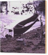 Okinawa Canoe Parking Wood Print